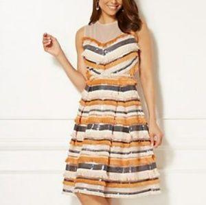 Eva Mendes New York and Company multi dress
